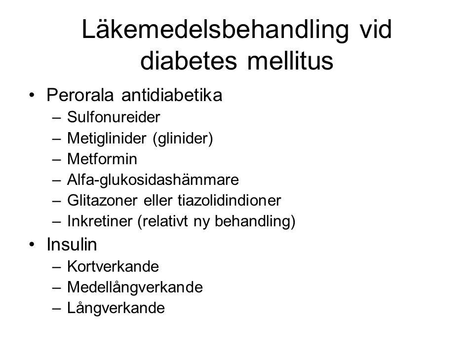 Läkemedelsbehandling vid diabetes mellitus