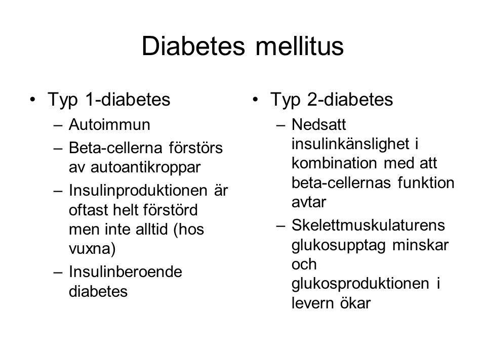 Diabetes mellitus Typ 1-diabetes Typ 2-diabetes Autoimmun