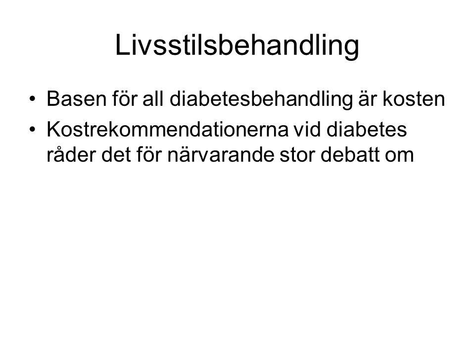 Livsstilsbehandling Basen för all diabetesbehandling är kosten