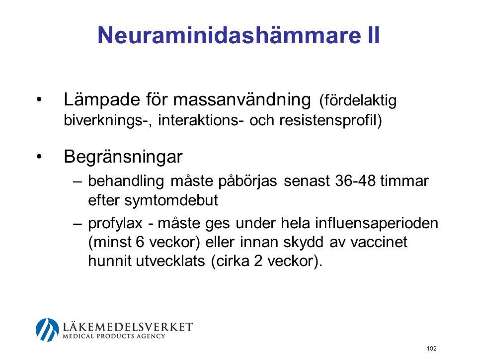 Neuraminidashämmare II