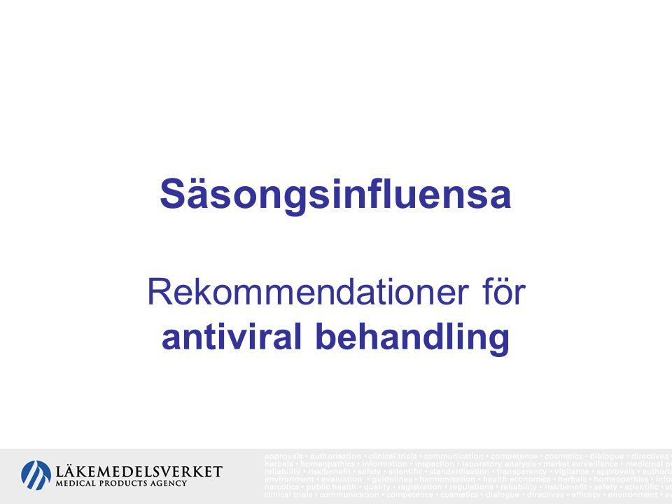 Rekommendationer för antiviral behandling
