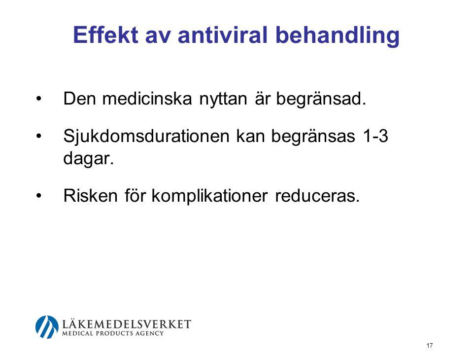 Effekt av antiviral behandling