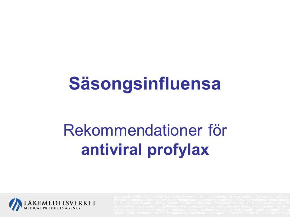 Rekommendationer för antiviral profylax