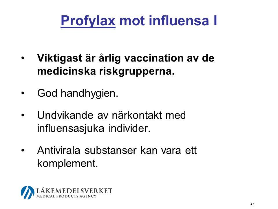 Profylax mot influensa I