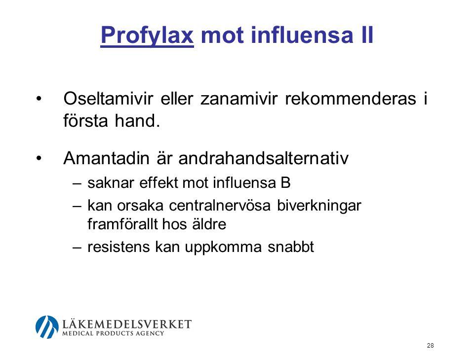 Profylax mot influensa II