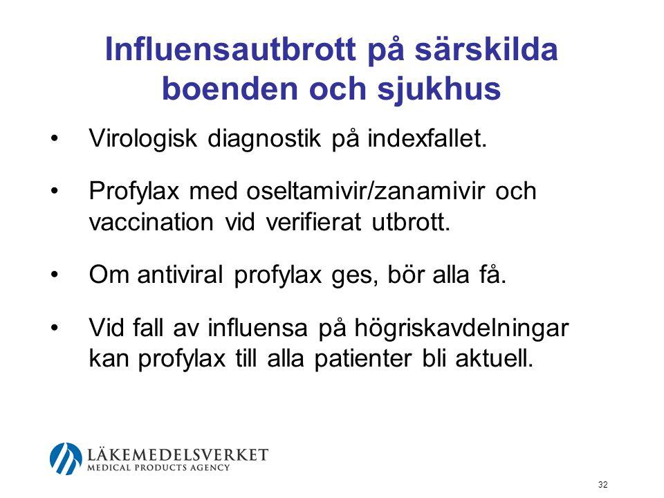 Influensautbrott på särskilda boenden och sjukhus