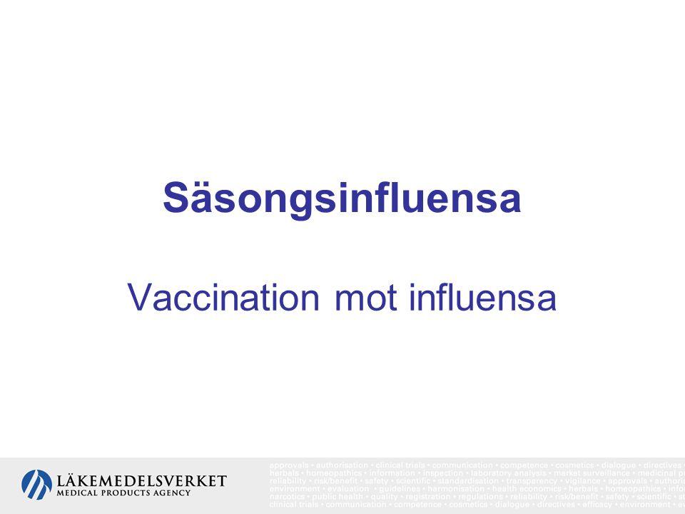 Vaccination mot influensa