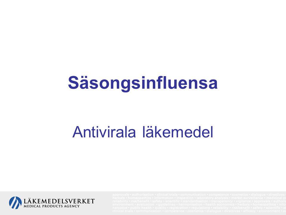 Säsongsinfluensa Antivirala läkemedel