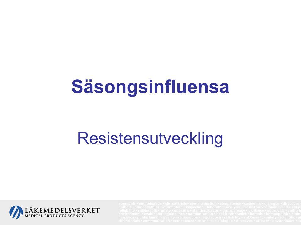 Säsongsinfluensa Resistensutveckling