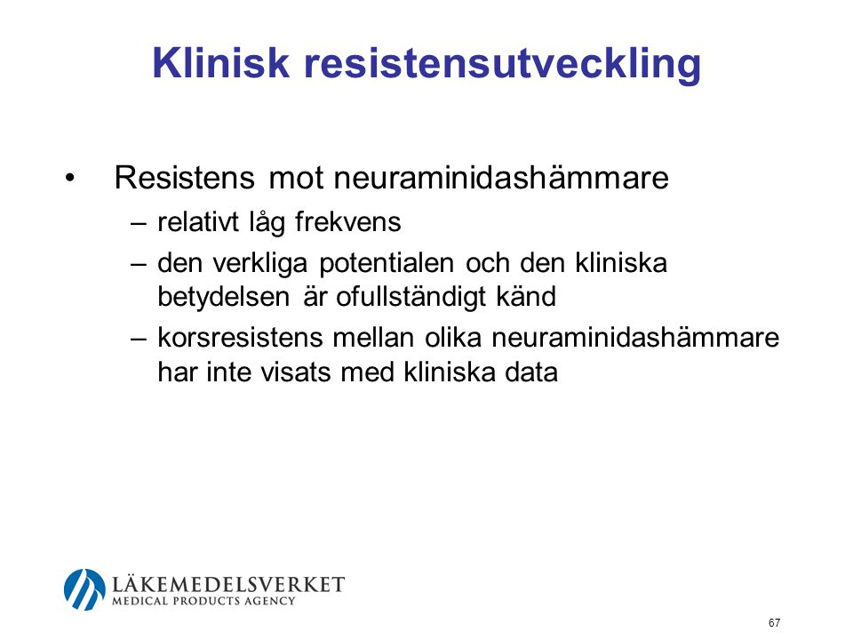 Klinisk resistensutveckling