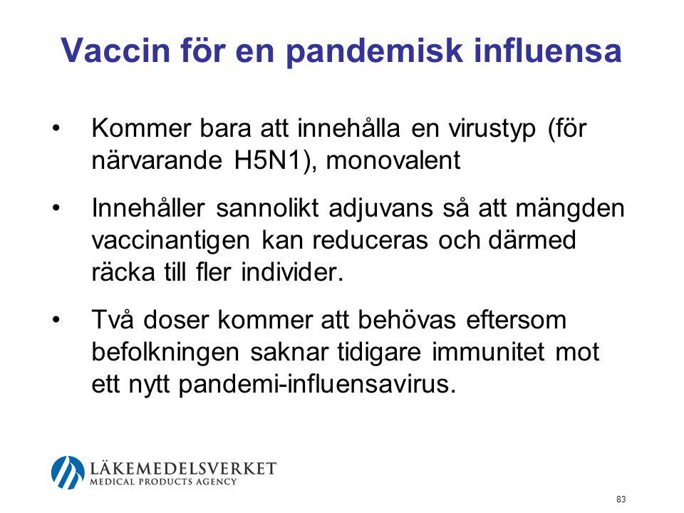 Vaccin för en pandemisk influensa