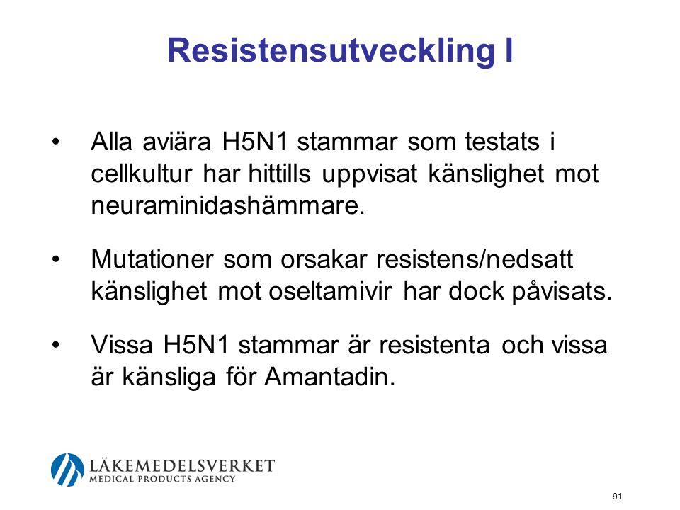 Resistensutveckling I