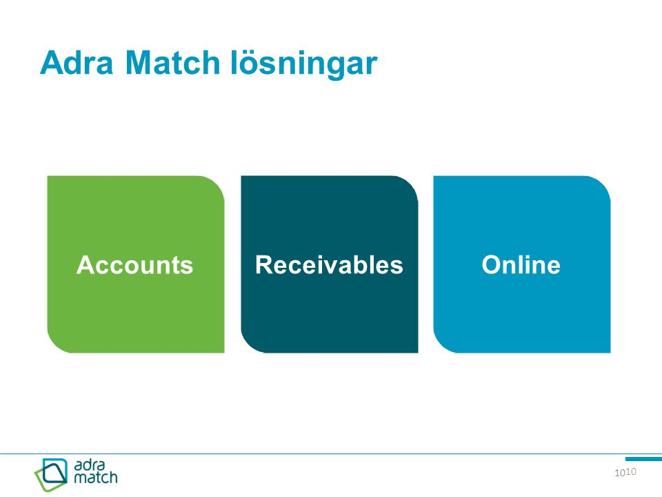 Adra Match lösningar Accounts Receivables Online 10