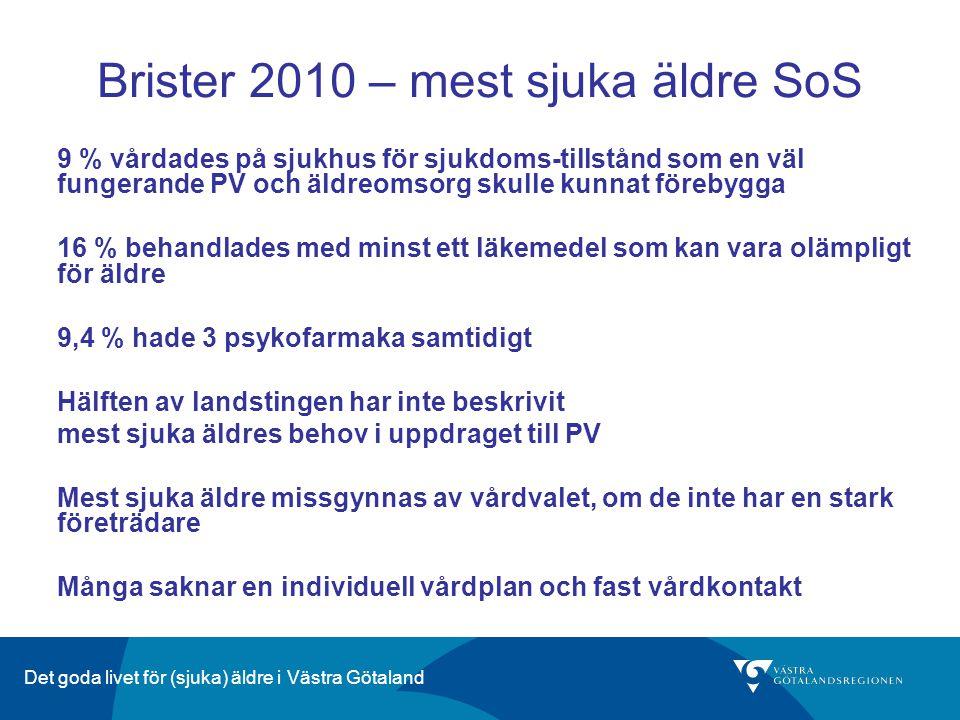 Brister 2010 – mest sjuka äldre SoS