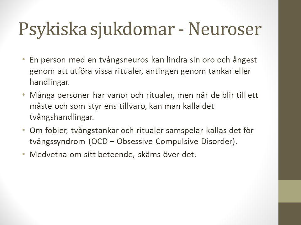 Psykiska sjukdomar - Neuroser