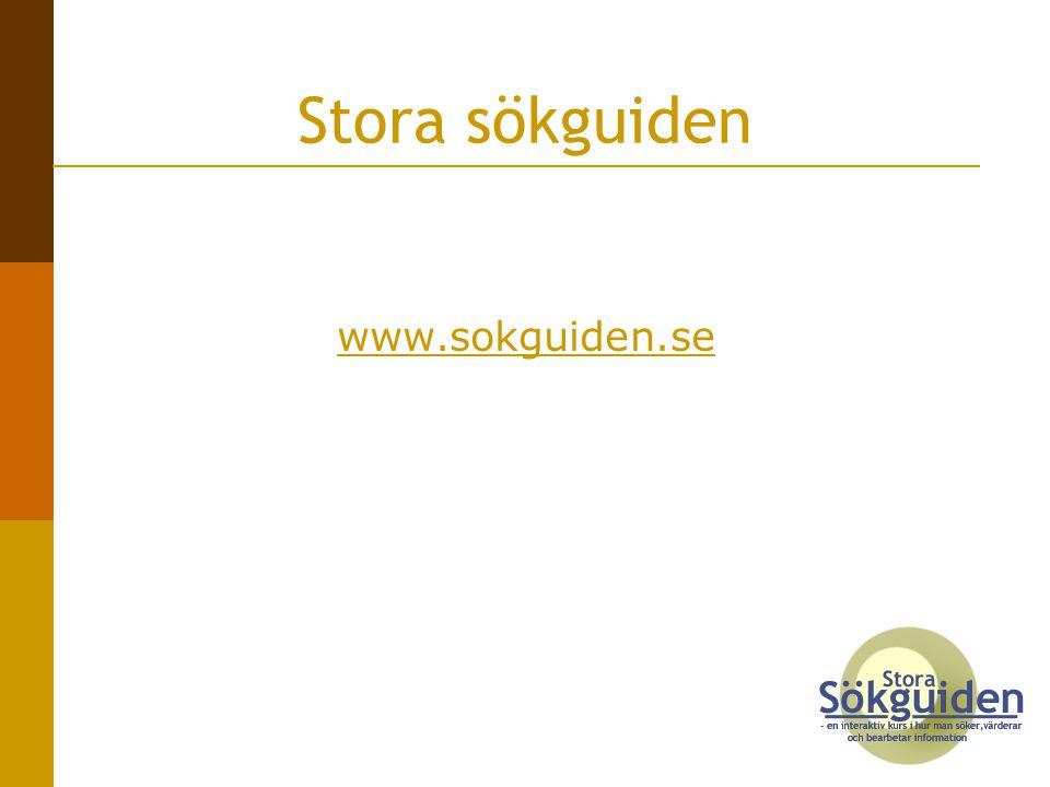 Stora sökguiden www.sokguiden.se