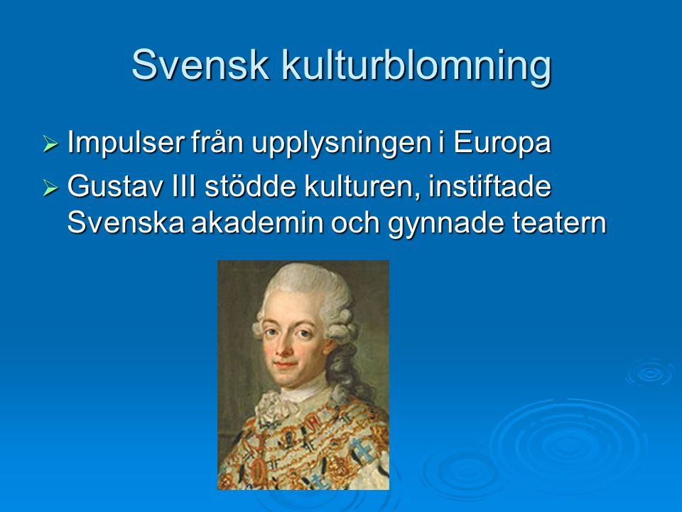 Svensk kulturblomning