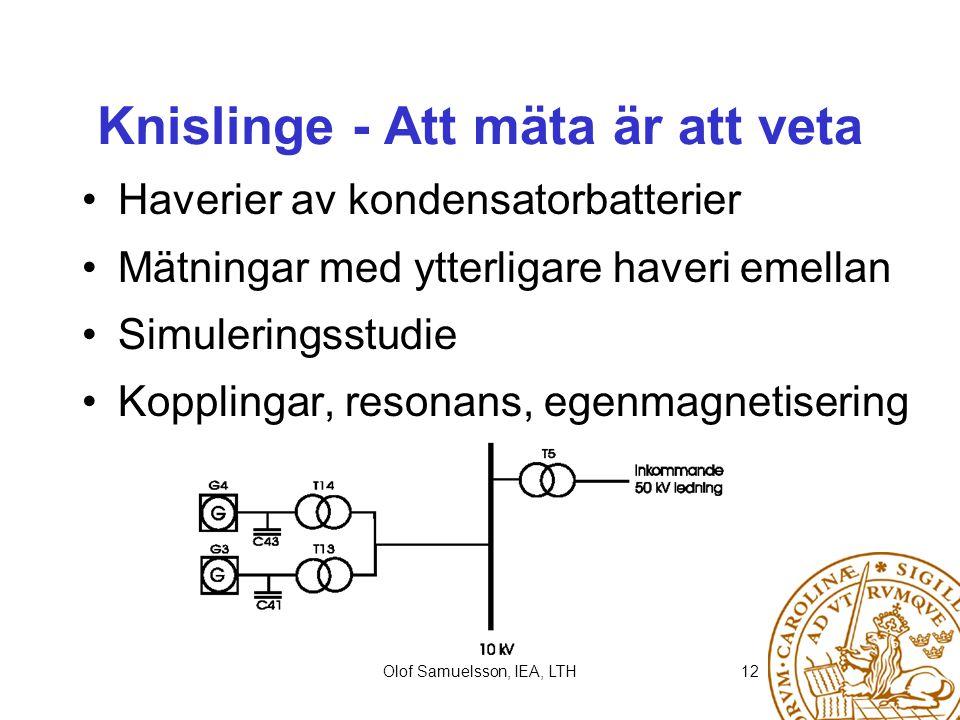 Knislinge - Att mäta är att veta
