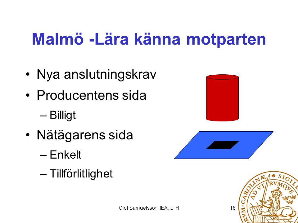 Malmö -Lära känna motparten
