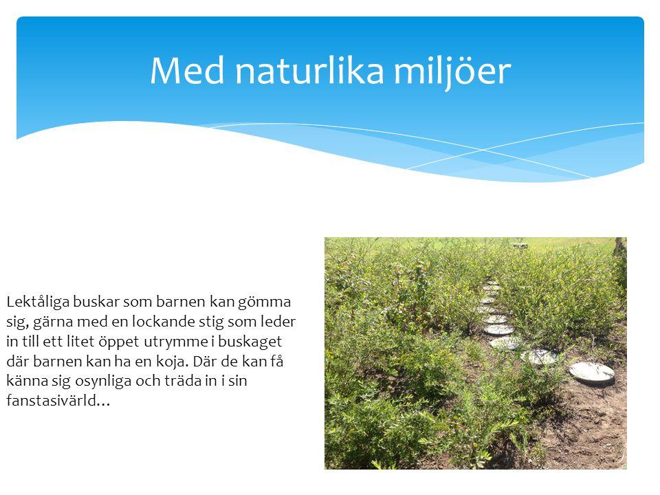 Med naturlika miljöer