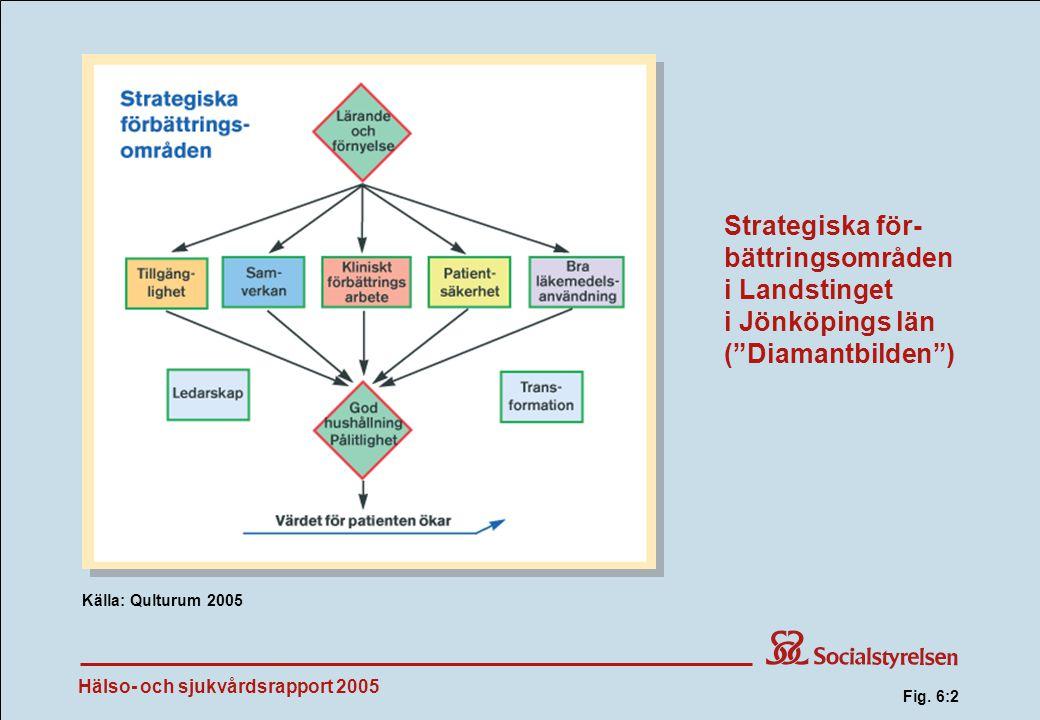 Fig. 6:2 Strategiska för-bättringsområden i Landstinget