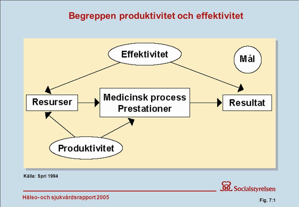 Begreppen produktivitet och effektivitet