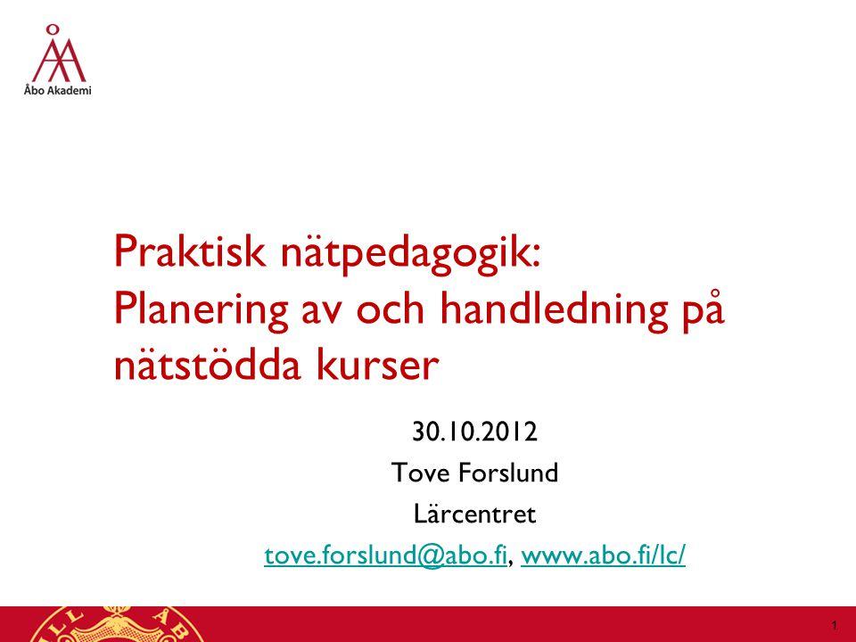 tove.forslund@abo.fi, www.abo.fi/lc/