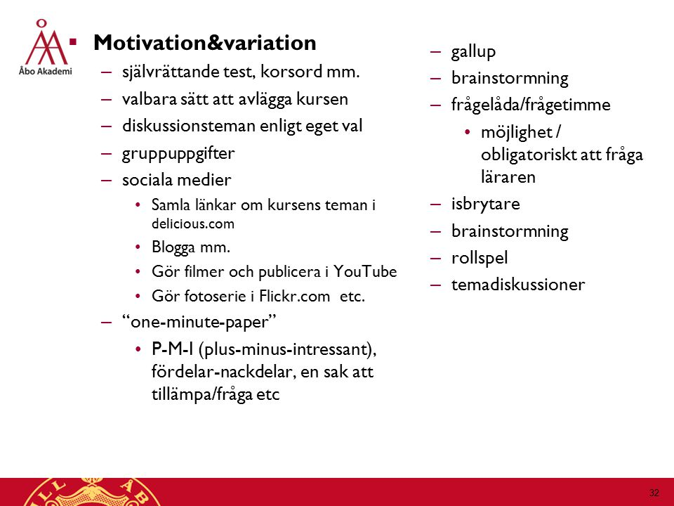 Motivation&variation