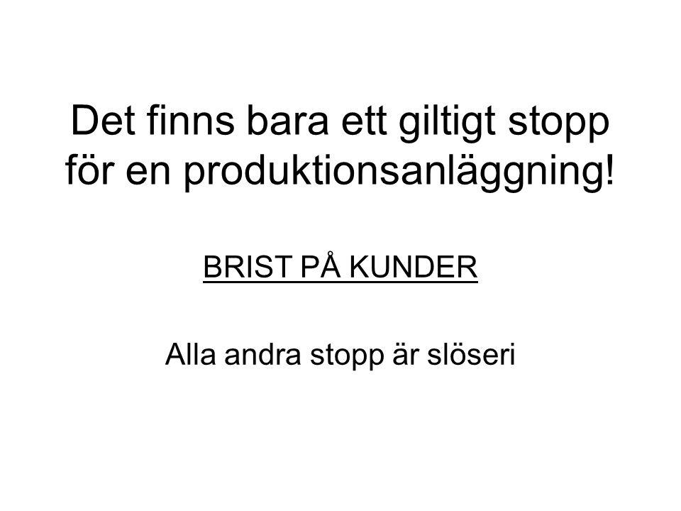 Det finns bara ett giltigt stopp för en produktionsanläggning!
