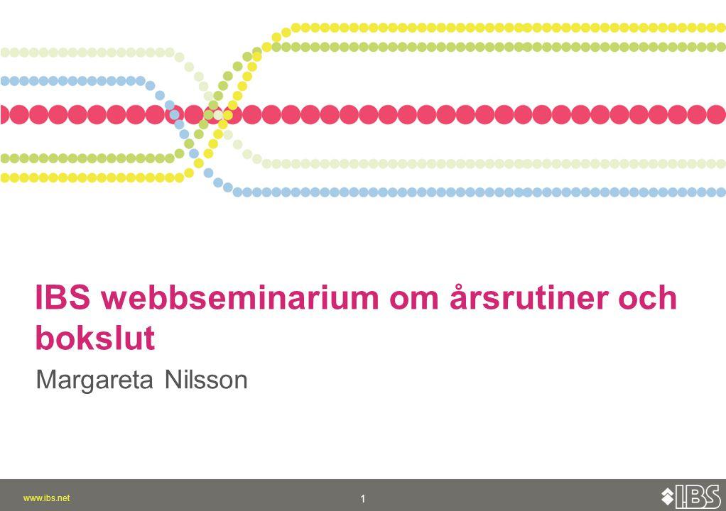 IBS webbseminarium om årsrutiner och bokslut
