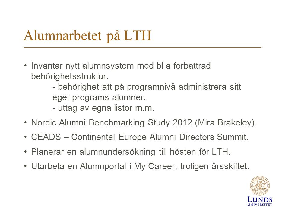 Alumnarbetet på LTH