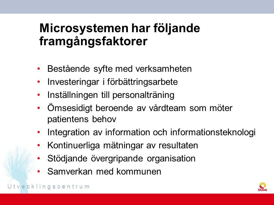 Microsystemen har följande framgångsfaktorer