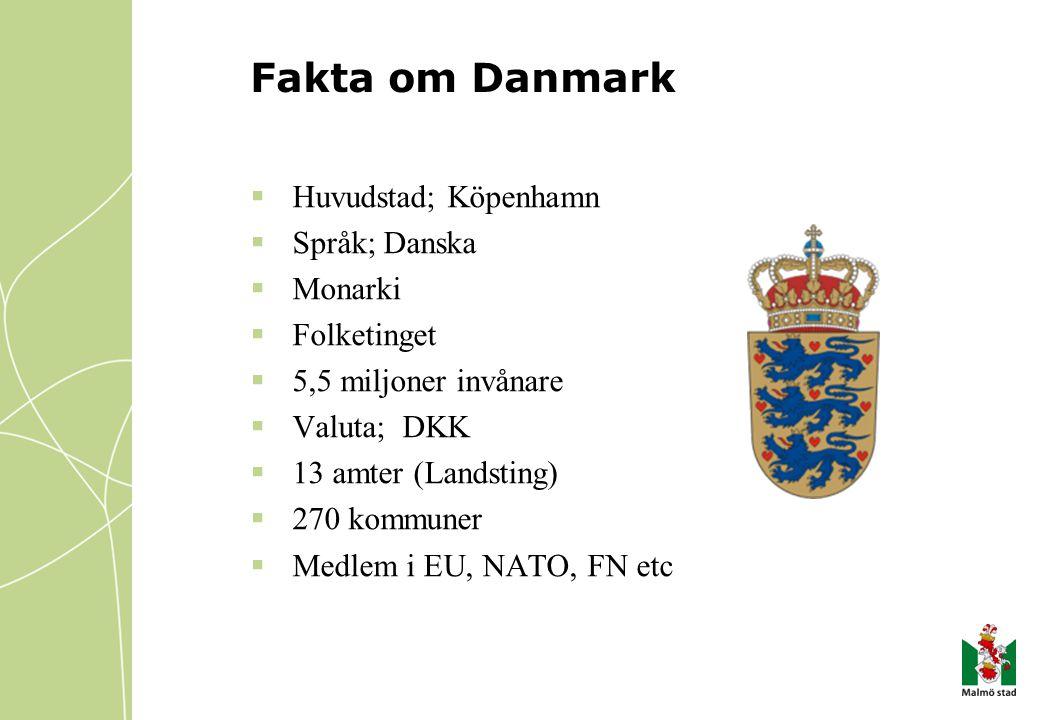 Fakta om Danmark Huvudstad; Köpenhamn Språk; Danska Monarki