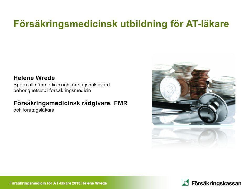 Försäkringsmedicinsk utbildning för AT-läkare