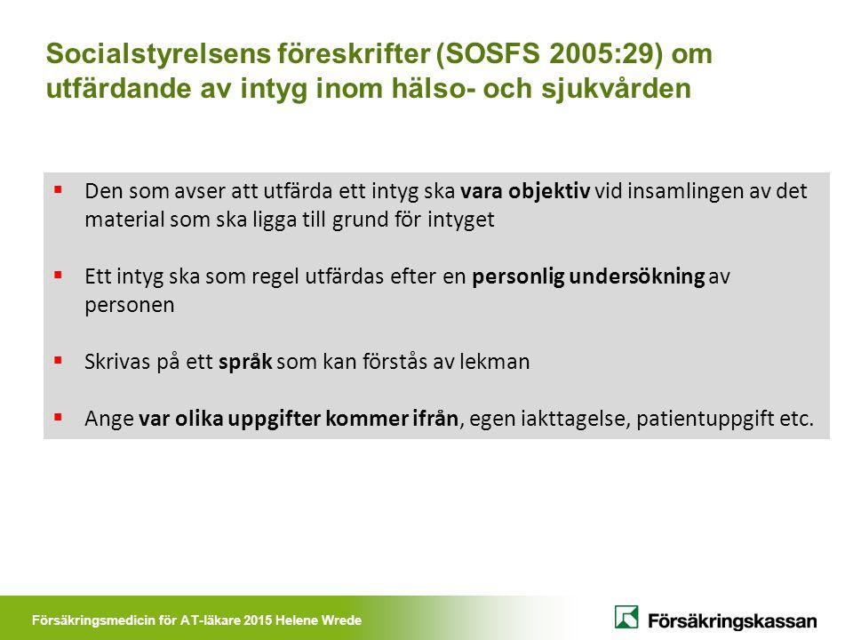 Socialstyrelsens föreskrifter (SOSFS 2005:29) om utfärdande av intyg inom hälso- och sjukvården