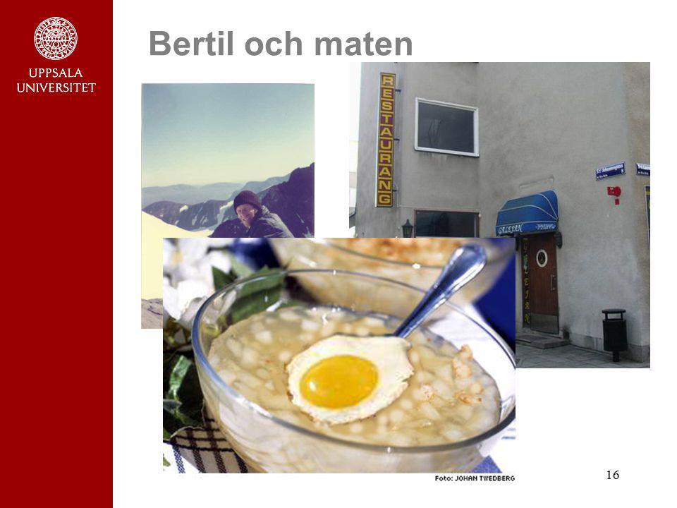 Bertil och maten