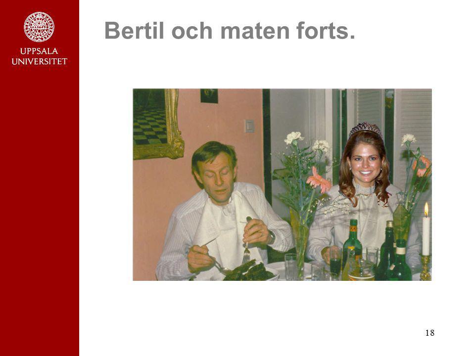 Bertil och maten forts.