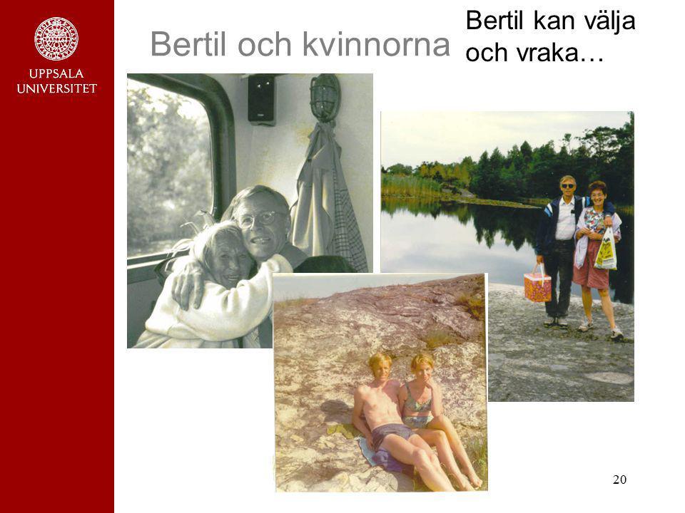 Bertil kan välja och vraka…