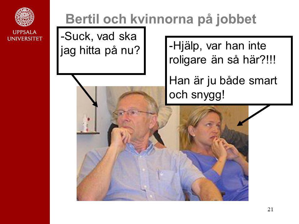 Bertil och kvinnorna på jobbet