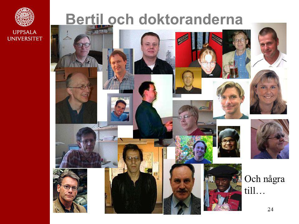 Bertil och doktoranderna