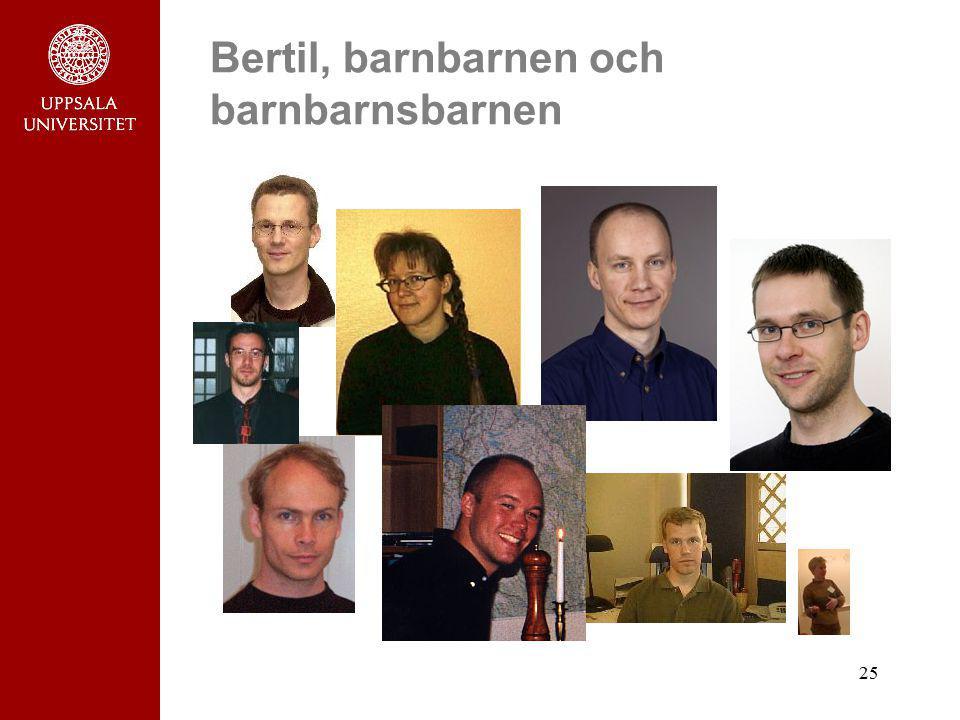 Bertil, barnbarnen och barnbarnsbarnen