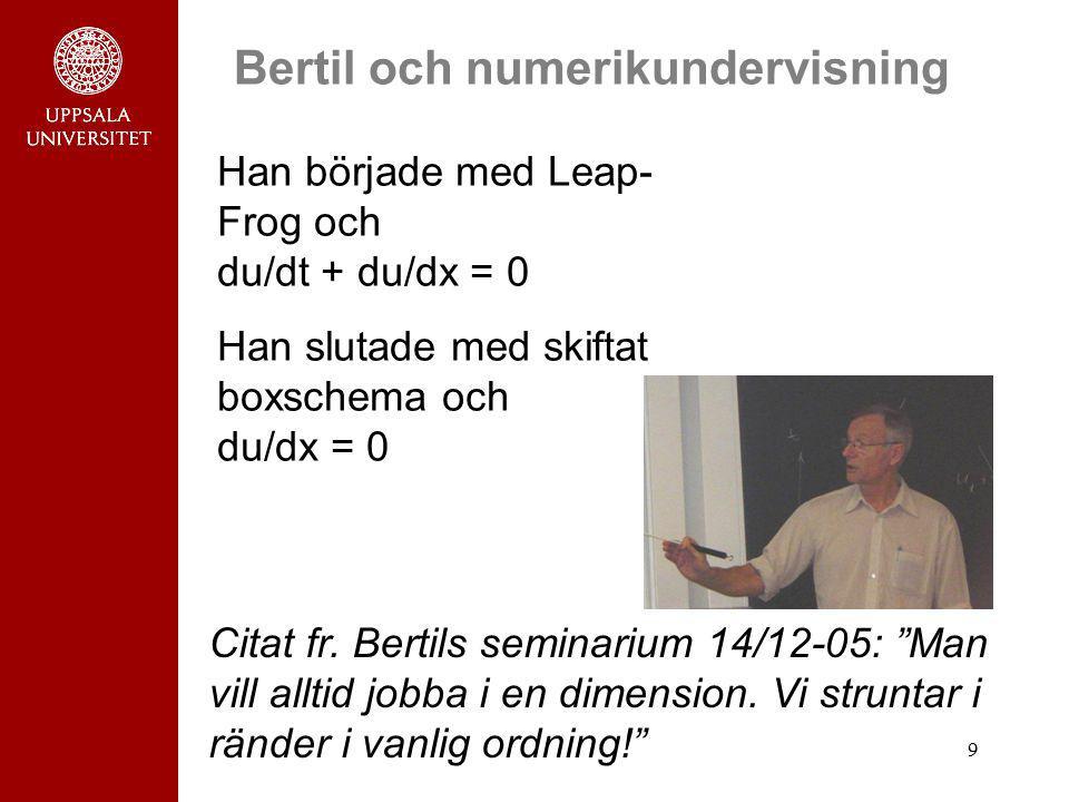 Bertil och numerikundervisning
