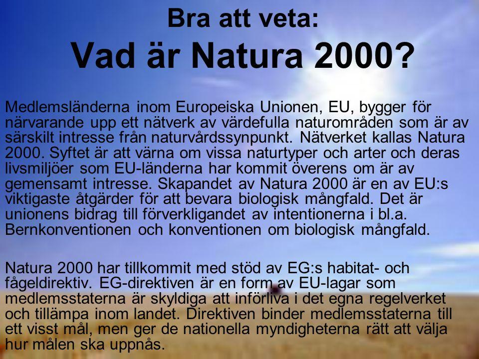 Bra att veta: Vad är Natura 2000