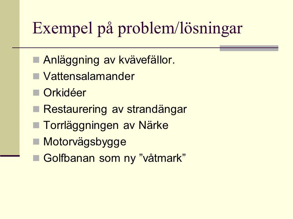 Exempel på problem/lösningar
