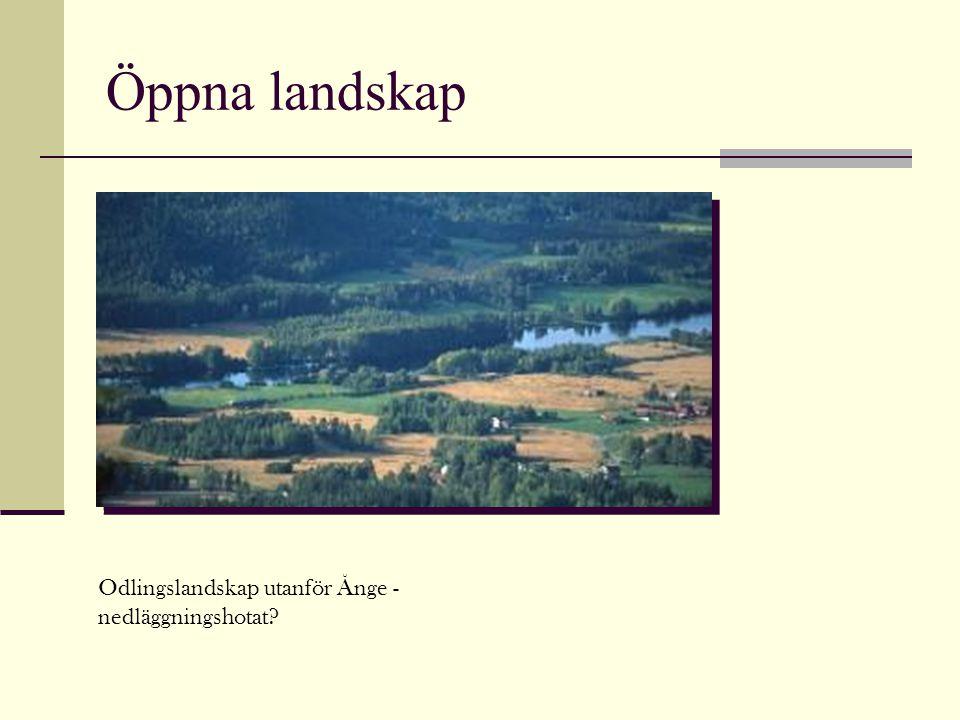 Öppna landskap Odlingslandskap utanför Ånge - nedläggningshotat