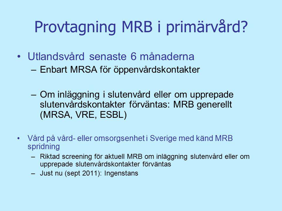 Provtagning MRB i primärvård