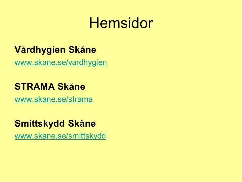 Hemsidor Vårdhygien Skåne STRAMA Skåne Smittskydd Skåne