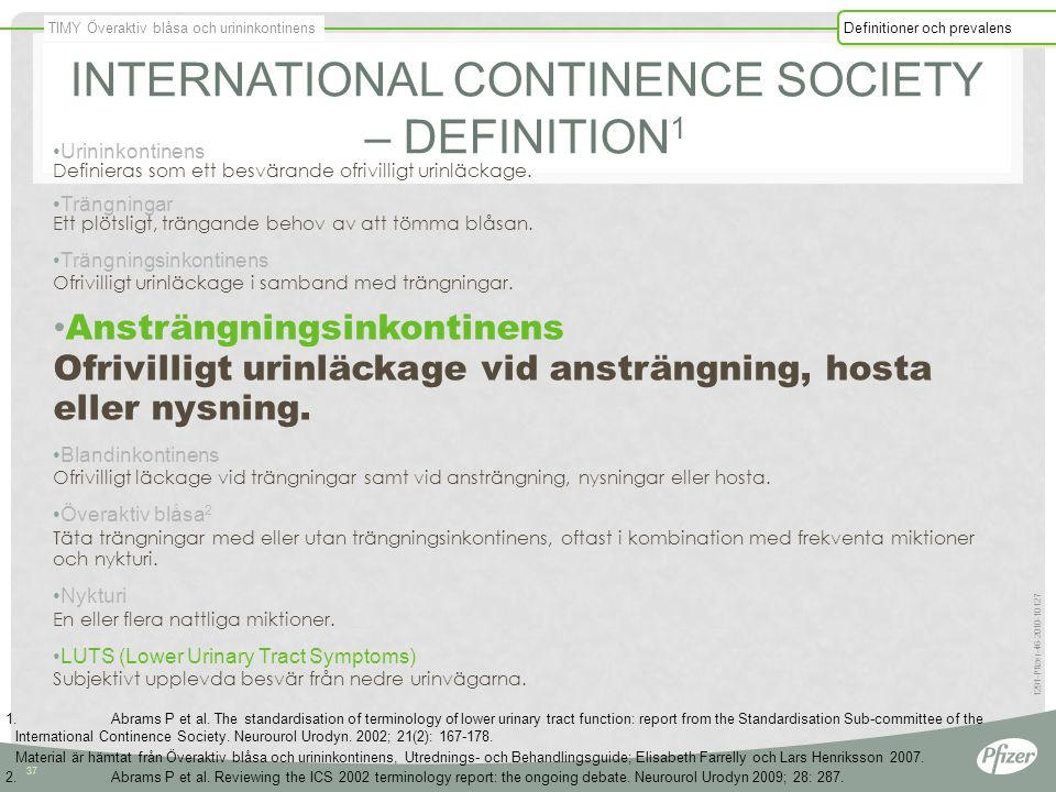 International Continence Society – definition1