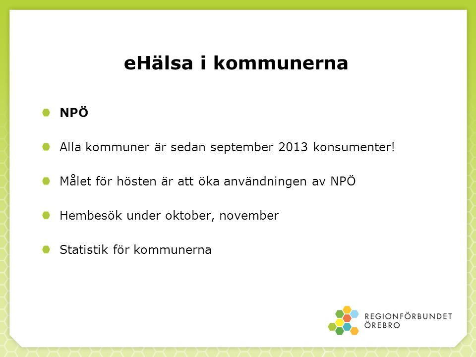eHälsa i kommunerna NPÖ