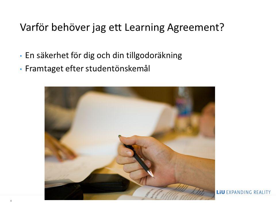 Varför behöver jag ett Learning Agreement